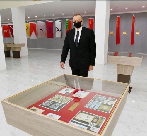 Prezident Tərtərdə Dövlət Rəmzləri Muzeyinin açılışında – FOTO
