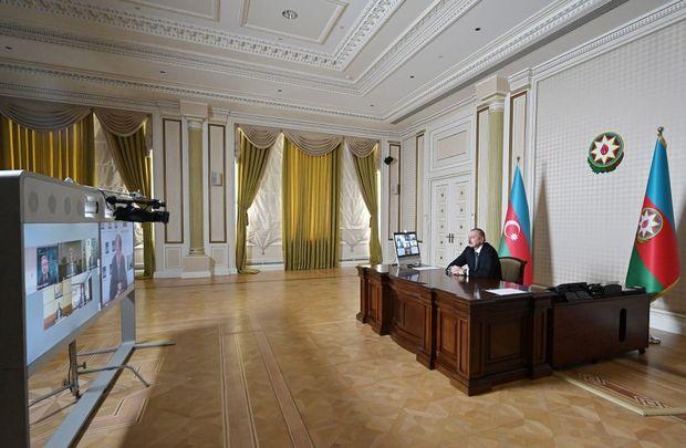 İlham Əliyev Asiya İnkişaf Bankının rəhbərləri ilə videokonfrans keçirdi – FOTO