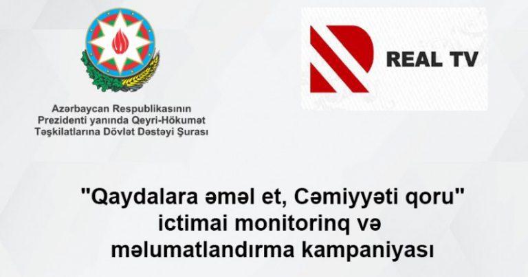 QHT Şurası və Real TV yeni ictimai monitorinq və məlumatlandırma kampaniyasına başlayır!