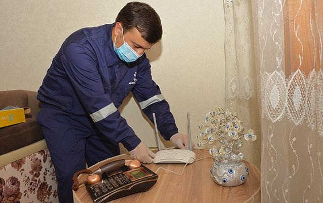 """""""Aztelekom"""" 700 mininci evi telekommunikasiya xidmətləri ilə təmin etdi – Fotolar"""