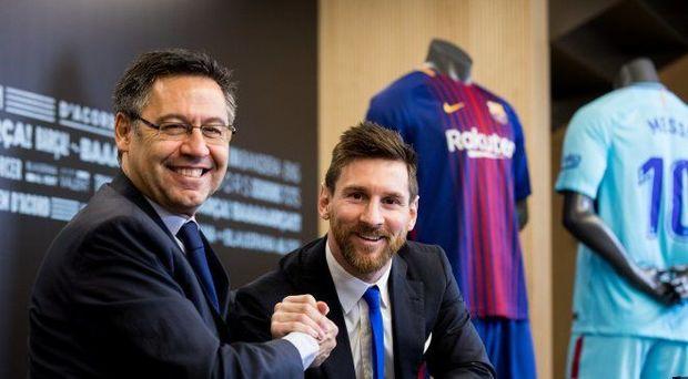"""""""Barselona""""nın prezidenti klubu tərk etməyə hazırlaşan Messini təriflədi"""
