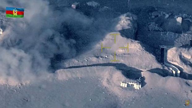 Cəbhənin Xocavənd istiqamətində düşmənin mövqelərinə artilleriya zərbələri endirilir – VİDEO