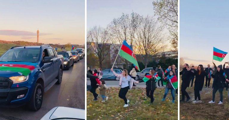Stokholmda yaşayan azərbaycanlılar Şuşanın azadlığını böyük sevinclə qarşılayıblar