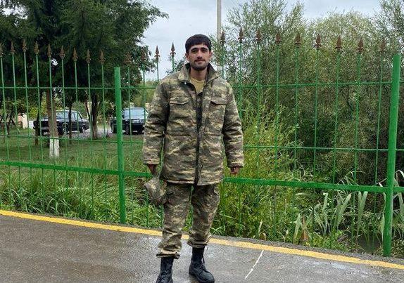 Şuşa məscidində ilk azan oxuyan əsgərimiz – FOTO/VİDEO