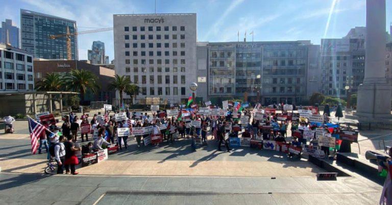 Kaliforniya ştatında erməni terroruna etiraz edilib – FOTO