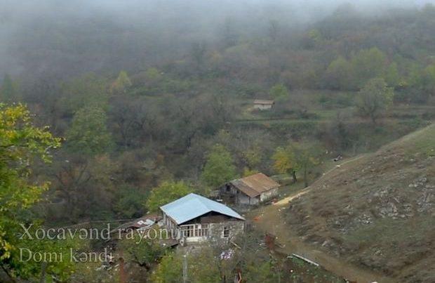 Xocavəndin işğaldan azad olunan Domi kəndindən VİDEOREPORTAJ