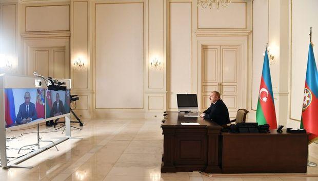 İlham Əliyev və Vladimir Putin videokonfrans formatında görüşüblər – YENİLƏNİB + FOTO/VİDEO