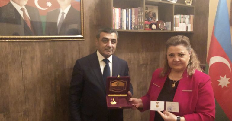 Tənzilə Rüstəmxanlı medalla təltif edildi