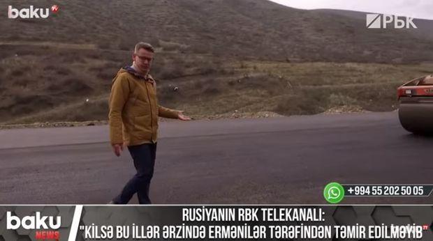 """Rusiyanın RBK telekanalı: """"Kilsə bu illər ərzində ermənilər tərəfindən təmir edilməyib"""" – VİDEO"""