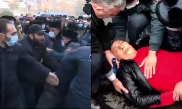 Ermənistanda polislərlə etirazçılar arasında qarşıdurma – VİDEO
