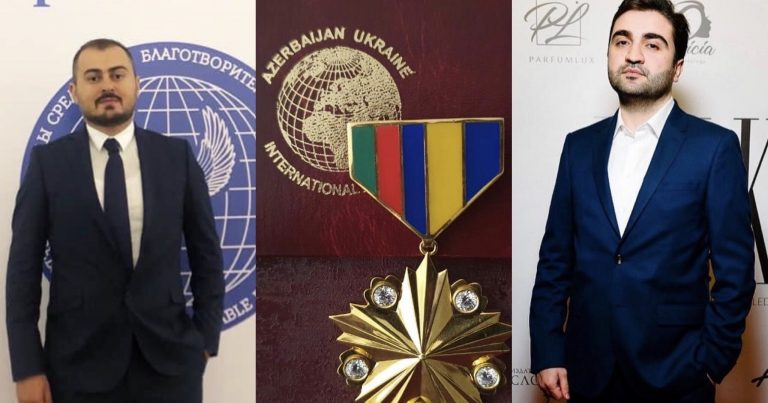 """Международный Альянс """"Азербайджан – Украина"""" наградил активистов диаспоры золотым орденом"""