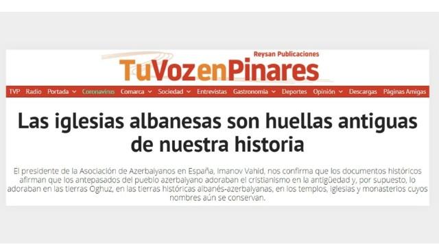 İspaniya mediasında Azərbaycandakı alban kilsələrindən bəhs edildi