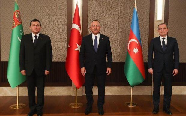 Azərbaycan, Türkiyə və Türkmənistan XİN başçılarının görüşü başlayıb – FOTO