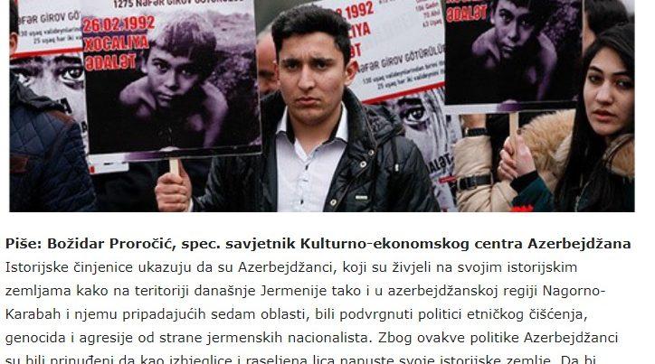 Monteneqro və Bosniya mediasında Xocalı soyqırımı XX əsrin faciəsi adlandırılıb