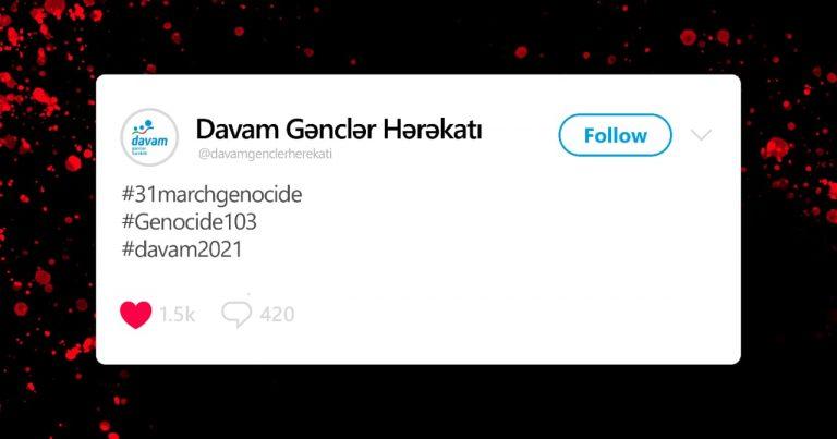 """""""Davam"""" Mart Soyqırımı ilə əlaqədar kampaniya həyata keçirib"""