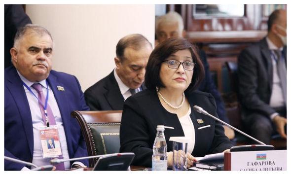 Sahibə Qafarova MDB PA-nın 52-ci plenar iclasında çıxış edib – FOTO