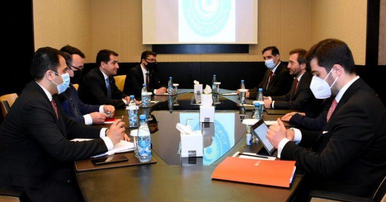 Hikmət Hacıyev Türkiyə Prezident Administrasiyasının idarə sədri ilə görüşüb