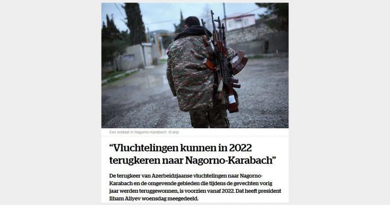 Belçika mediasında Ermənistan minalarının Qarabağa qayıdışa əngəl olmasından yazılıb