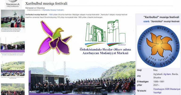 """Özbək dilində """"Xarıbülbül"""" Beynəlxalq musiqi festivalı haqqında bölmə istifadəyə verildi"""