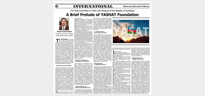 """Pakistan mediasında """"YAŞAT"""" xeyriyyə marafonundan bəhs edilib"""