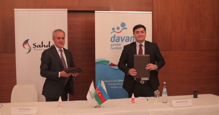 """""""Davam"""" Gənclər Hərəkatı və Şahdağ Turizm Mərkəzi arasında memorandum imzalanıb – FOTOLAR"""