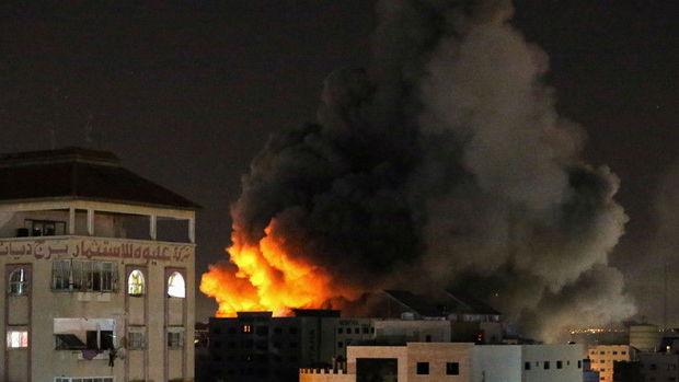 İsrail ordusu HƏMAS-a aid strateji obyektləri məhv etdi – FOTO