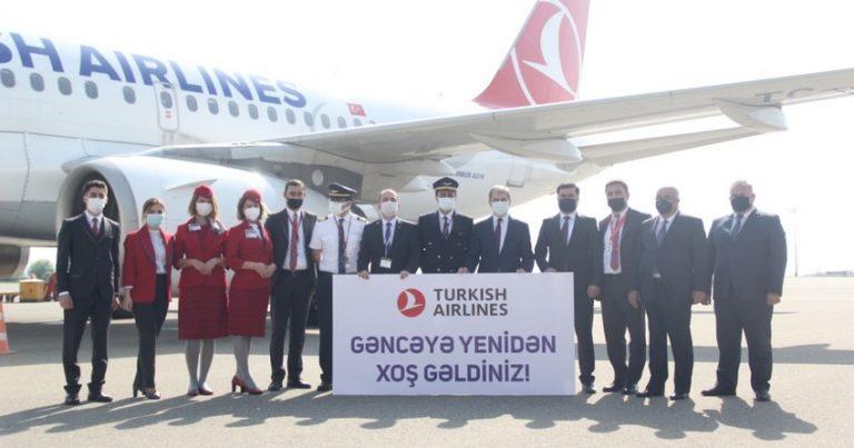 """""""Türk Hava Yolları"""" Gəncəyə və Naxçıvana uçuşları bərpa etdi"""