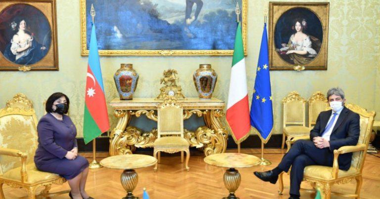Sahibə Qafarova İtaliya Deputatlar Palatasının sədri ilə görüşdü – FOTO