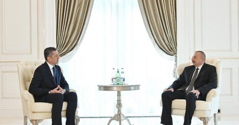 İlham Əliyev Türkiyənin milli təhsil nazirini qəbul etdi