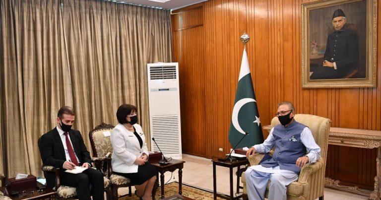 Sahibə Qafarova Pakistan prezidenti ilə görüşüb