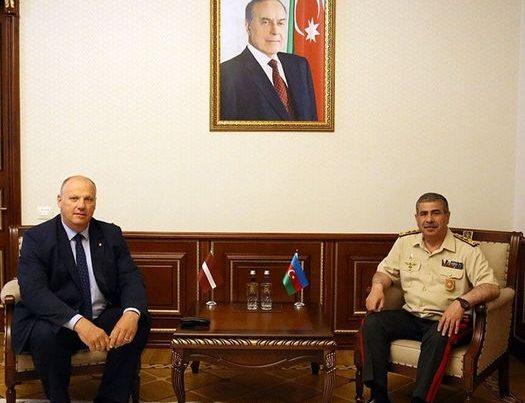 Zakir Həsənov Latviyanın NATO-nun PA-dakı nümayəndə heyətinin üzvü ilə görüşüb