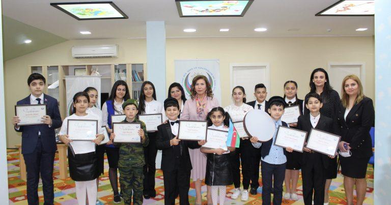 Bahar Muradova 15 İyun – Milli Qurtuluş Günü ərəfəsində uşaqlarla görüşüb