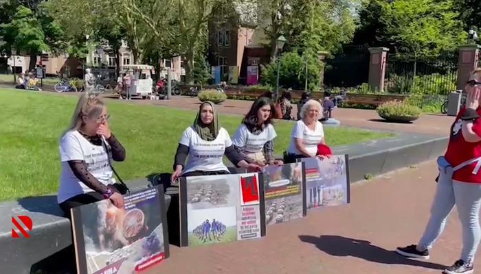 Niderlandda Ermənistanın mina terroruna etiraz olaraq aksiya keçirilib – VİDEO