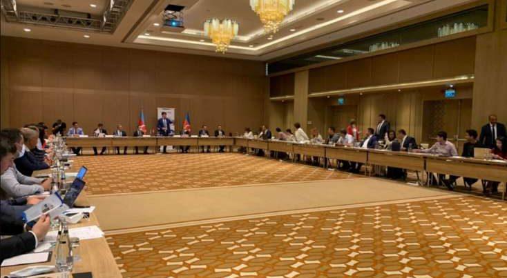 Qarabağ qazisi diaspor təşkilatlarının toplantısında iştirak edib – FOTO