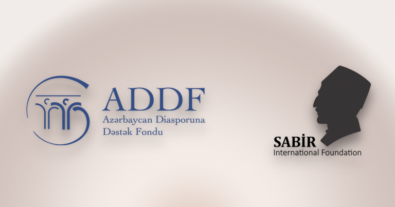Azərbaycan Diasporuna Dəstək Fondu ilə Sabir Beynəlxalq Fondu (Sabir İnternational Foundation) arasında memorandum imzalanıb