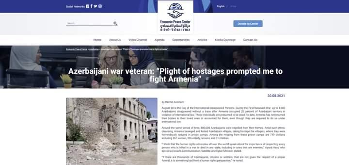 İsrail mediasında Qarabağda itkin düşən azərbaycanlılardan bəhs edilib