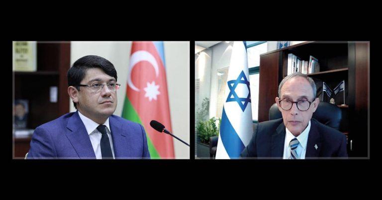 Fuad Muradov İsrailin yeni təyin olunmuş Diaspor naziri ilə videogörüş keçirib
