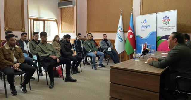 Türkiyədən təhsil üçün Azərbaycana gələn gənclərlə görüş keçirilib